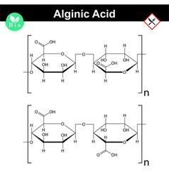 Alginic acid molecular structure vector image vector image