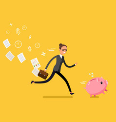 concept of saving money vector image vector image