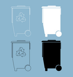 Refuse bin with arrows utilization the black and vector