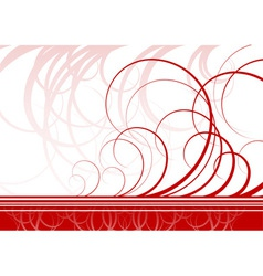 swirl background in red color vector image