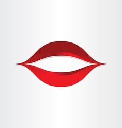 Girl mouth kiss lips icon vector