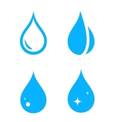 blue isolated droplet set vector image