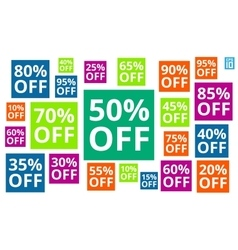 Discount colorful vector image