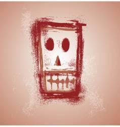grunge skull face vector image vector image