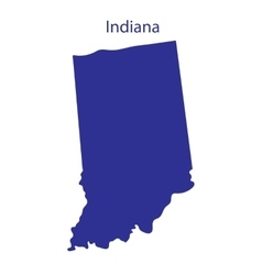 United States Indiana vector image vector image