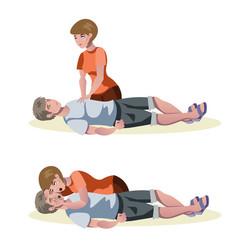 emergency first aid resuscitation procedures vector image