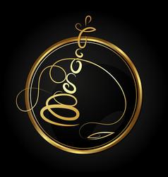 hookah in the golden circle vector image