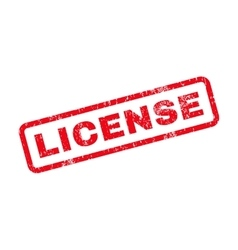 License Text Rubber Stamp vector image vector image