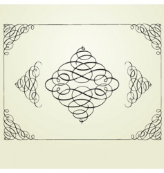 Swirl frame and elements vector