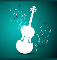 abstract music background violin and notes vector image