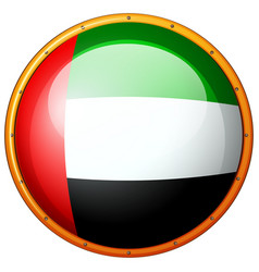 badge design for flag of arab emirates vector image