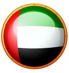 Badge design for flag of arab emirates vector