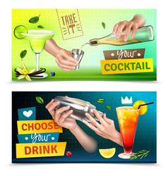 bartender banners set vector image
