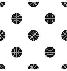 basketball ball pattern seamless black vector image