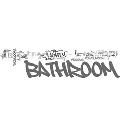 Bathroom design tips text word cloud concept vector