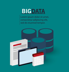 big data document digital technology vector image