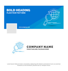 blue business logo template for global globe vector image