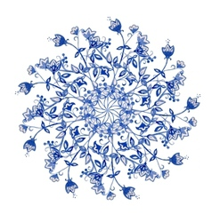 Blue flowers ornament vector image