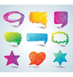 bubbles for speech doodle bac vector image vector image