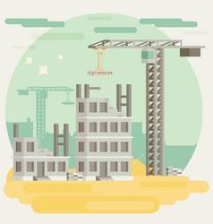 Building a house flat vector
