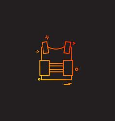 bulletproof vest protection revolution vest icon vector image