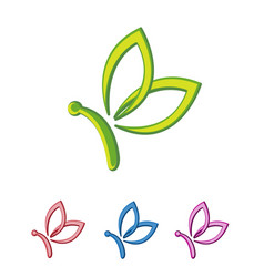 butterfly business logo vector image