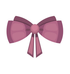 cartoon cute gift bow with ribbon color butterfly vector image