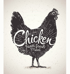 Chicken and inscription vector