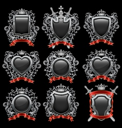 Coat of arms set vector image