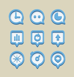 Collection of different web icons vector
