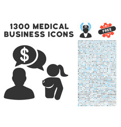 Commercial adult chat icon with 1300 medical vector