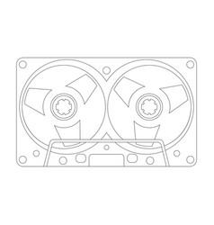 compact cassette vector image