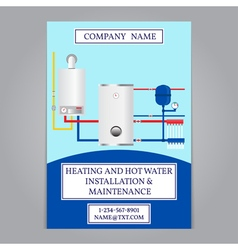 Corporate identity template design Boiler installa vector