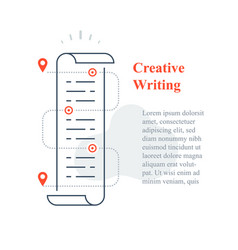 Creative writing concept storytelling vector