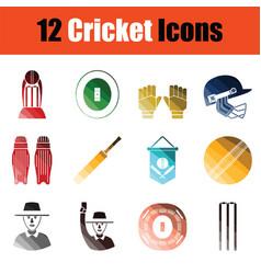 Cricket icon set vector