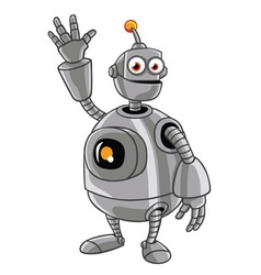 Cute Robot Cartoon vector image