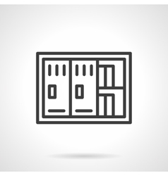 Documents safe black line icon vector