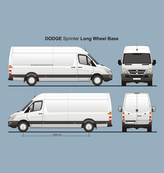 Dodge sprinter long wheel base cargo van vector