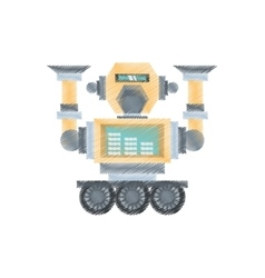 Drawing robotic mechanical engineering vector