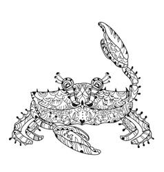 Exotic tropical crab vector