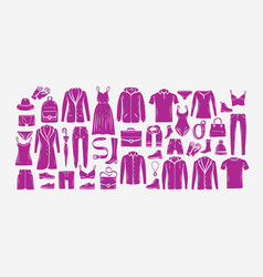 fashionable clothes set fashion collection of vector image