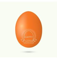 Festive easter egg vector
