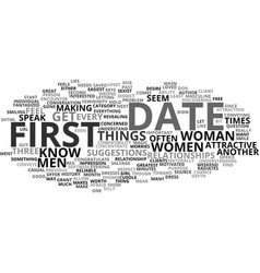 First date magic for women text background word vector