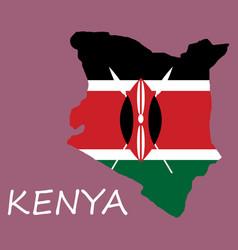 flag map of kenya vector image
