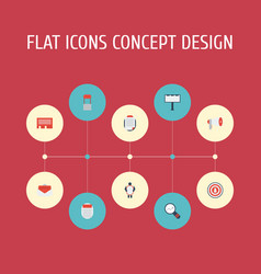 Flat icons letter message audience and other vector