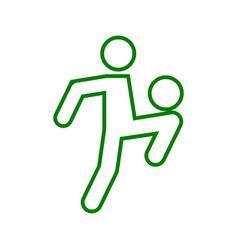 Football soccer juggling sport outline figure vector