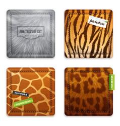 Fur texture 2x2 design concept vector