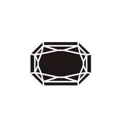 Gem stone icon vector