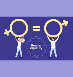gender equality concept flat male and vector image
