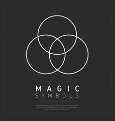 Geometry magic symbol on gray vector